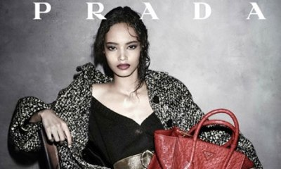 Malaika Firth as the the new face of Prada