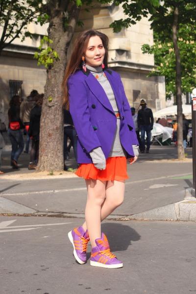 fluo neon purple