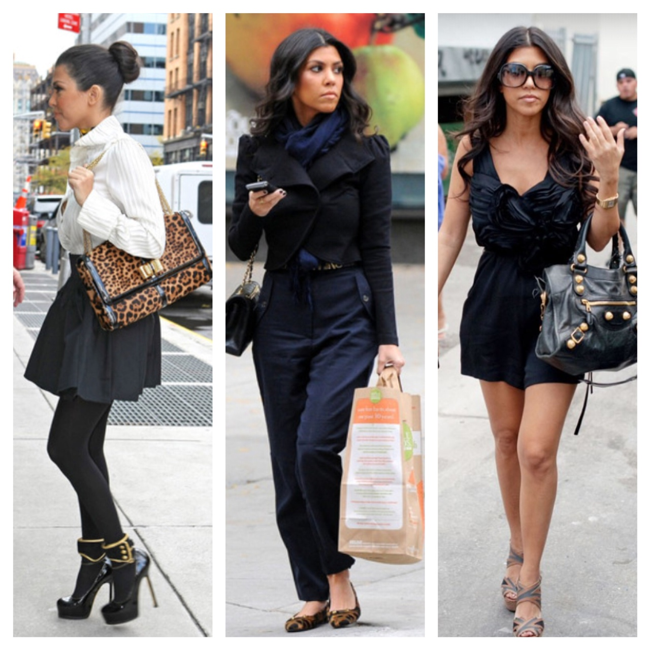 Celebrity Style Kourtney Kardashian
