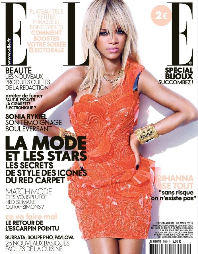 RIHANNA in Elle Magazine