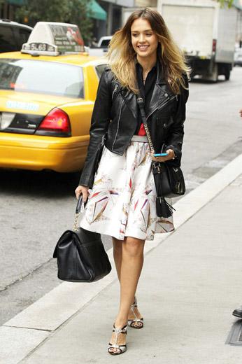 Jessica Alba Casual Street Style